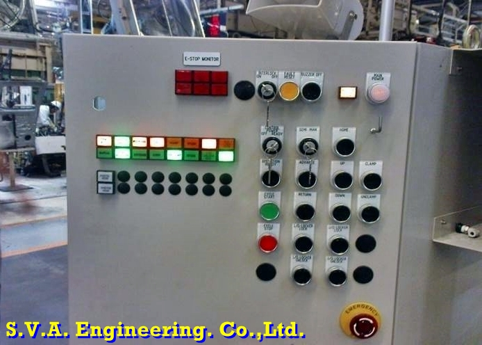 Control Panel for semi-auto hoist by relay